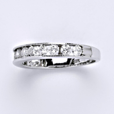 Zlatý prsten s brilianty (diamantový prsten),bílé zlato 18 kt, 3,22 g