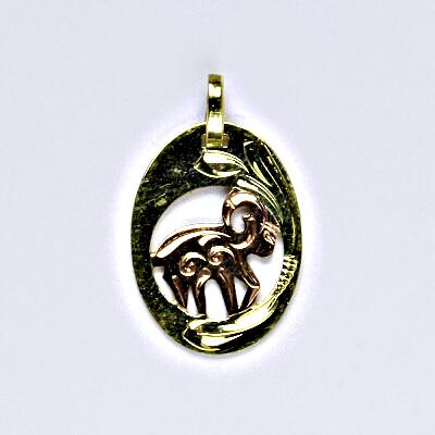 Zlatý přívěsek, přívěsek ze zlata, žluté zlato, znamení zvěrokruhu, Beran, váha 0,80 g