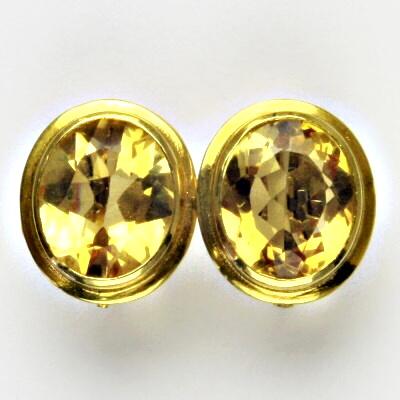 Zlatý prsten s přírodním citrínem, žluté zlato 18 ct, přírodní citrín, 5,70 g