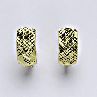 Zlaté náušnice, náušnice ze zlata, žluté zlato, zapínání na patent, váha 2,12 g