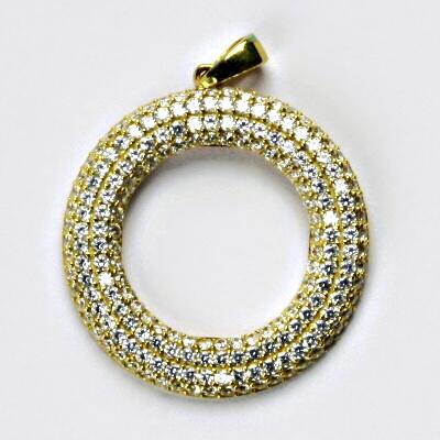 Zlatý přívěsek, přívěšek ze zlata, žluté zlato, zlatý se zirkony 3,23 g